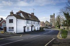 Grand-rue de village de Biddenden Image libre de droits