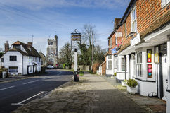 Grand-rue de village de Biddenden Photo stock