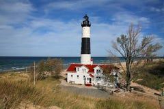 grand sable de point de phare photographie stock