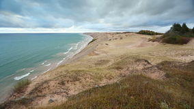 Grand Sable Dunes at Pictured Rocks Loop stock video footage
