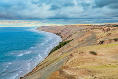 Grand Sable Dunes. The Grand Sable Dunes rise high above Lake Superior near Grand Marais in Upper Peninsula Michigan's Pictured Rocks National Lakeshore Royalty Free Stock Images