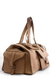 Grand sac en cuir de Brown Photographie stock libre de droits