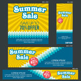Grand Sale Banner Template. Banners of various sizes, ideal for your promotional medianEPS 10 and JPEG files Stock Photography