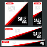 Grand Sale Banner Template. Banners of various sizes, ideal for your promotional medianEPS 10 and JPEG files Royalty Free Stock Photos