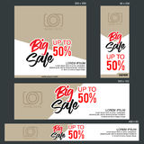 Grand Sale Banner Template. Banners of various sizes, ideal for your promotional medianEPS 10 and JPEG files Royalty Free Stock Photography
