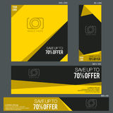 Grand Sale Banner Template. Banners of various sizes, ideal for your promotional medianEPS 10 and JPEG files Stock Photos