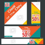 Grand Sale Banner Template. Banners of various sizes, ideal for your promotional medianEPS 10 and JPEG files Royalty Free Stock Images