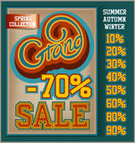 Grand Sale collection. Vintage Grand Sale collection with handwritten header Stock Photos