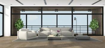 Grand salon minimaliste Photo libre de droits