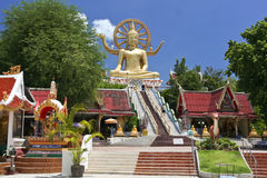 Grand samui Thaïlande de ko de temple de Bouddha Photographie stock libre de droits