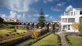 Grand sao Miguel Azores Portugal de parc de Ribeira Photographie stock libre de droits