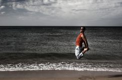 Grand saut photos libres de droits