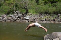 Grand saut Images stock
