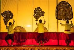 The Grand Shadow Play. Thai shadow puppet art at Singburi province, Thailand Royalty Free Stock Image