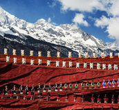 The grand show in LIJIANG. The grand Impression Lijiang show in LIJIANG, CHINA, snow mountain backdrop, Impression Lijiang stock photos