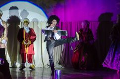 Grand Show Song on Bis. DNIPRO, UKRAINE - JUNE 22, 2018: Grand Show Song on Bis perfomed by members of the Creative Youth Song Theater Stock Image