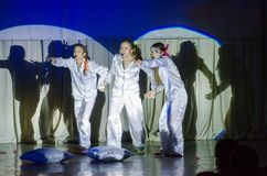 Grand Show Song on Bis. DNIPRO, UKRAINE - JUNE 22, 2018: Grand Show Song on Bis perfomed by members of the Creative Youth Song Theater Stock Photos