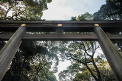 Grand Shrine Gate at Meiji Jingu Temple, Tokyo Stock Photography