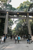 Grand Shrine Gate at Meiji Jingu Temple, Tokyo Royalty Free Stock Photo