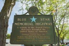 Grand signe commémoratif de l'armée américaine d'étoile bleue photos libres de droits