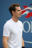 Grand Slam Champion Andy Murray in action during US Open 2015 second round match Royalty Free Stock Photography