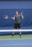 Grand Slam Champion Andy Murray practices for US Open 2014 Stock Images