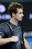Grand Slam champion Andy Murray of United Kingdom  after his Australian Open 2016 round 3 match Royalty Free Stock Photos