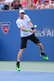 Grand Slam Champion Andy Murray during US Open 2014 round 4 match against Jo-Wilfried Tsonga Royalty Free Stock Images