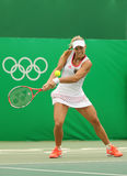 Grand Slam champion Angelique Kerber of Germany in action during tennis singles first round match of the Rio 2016 Olympic Games Stock Photography