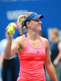 Grand Slam champion Angelique Kerber of Germany celebrates victory after her quarter final match at US Open 2016 Stock Photography