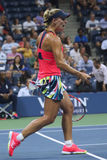 Grand Slam champion Angelique Kerber of Germany celebrates victory after her semifinal match at US Open 2016 Stock Photo