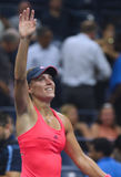 Grand Slam champion Angelique Kerber of Germany celebrates victory after her semifinal match at US Open 2016 Stock Images