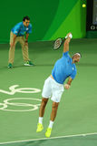 Grand Slam Champion Juan Martin Del Porto of Argentina in action during men's singles match of the Rio 2016 Olympic Games Stock Photography