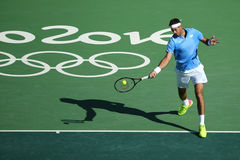 Grand Slam Champion Juan Martin Del Porto of Argentina in action during men's singles semifinal of the Rio 2016 Olympics Stock Photos