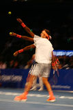 Grand Slam Champion Juan Martin Del Potro of Argentina in action during  BNP Paribas Showdown 10th Anniversary tennis event Stock Photos
