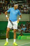 Grand Slam champion Juan Martin Del Potro of Argentina in action during his men singles final match of the Rio 2016 Olympic Games Stock Images