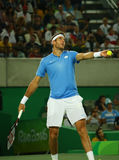 Grand Slam champion Juan Martin Del Potro of Argentina in action during his men singles final match of the Rio 2016 Olympic Games Stock Photos