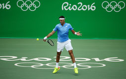 Grand Slam champion Juan Martin Del Potro of Argentina in action during his men singles final match of the Rio 2016 Olympic Games Stock Image