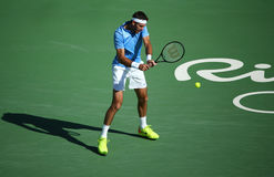 Grand Slam champion Juan Martin Del Potro of Argentina in action during his semifinal match of the Rio 2016 Olympic Games Stock Photo