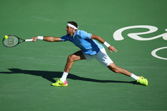 Grand Slam champion Juan Martin Del Potro of Argentina in action during his semifinal match of the Rio 2016 Olympic Games Stock Image