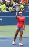 Grand Slam Champion Na Li after wining first round Royalty Free Stock Photography
