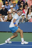 Grand Slam champion Pat Cash during US Open 2014 champions exhibition match Royalty Free Stock Photography