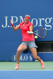 Grand Slam champion Petra Kvitova during first round match at US Open 2013 Royalty Free Stock Photography