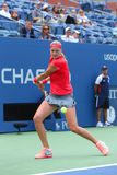 Grand Slam champion Petra Kvitova during first round match at US Open 2013 Stock Image