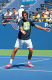 Grand Slam champion and professional tennis player Juan Martin Del Potro practices for US Open 2013 Royalty Free Stock Image
