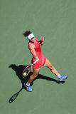 Grand Slam Champion Samantha Stosur of Australia in action during her round four match at US Open 2015. NEW YORK - SEPTEMBER 5, 2015: Grand Slam Champion Royalty Free Stock Image