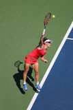 Grand Slam Champion Samantha Stosur of Australia in action during her round four match at US Open 2015. NEW YORK - SEPTEMBER 5, 2015: Grand Slam Champion Stock Image