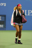 Grand Slam champion Serena Williams entering stadium before first round match at US Open 2014 Royalty Free Stock Photo