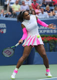 Grand Slam champion Serena Williams of United States in action during her round four match at US Open 2016 Royalty Free Stock Image