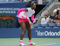 Grand Slam champion Serena Williams of United States in action during her round four match at US Open 2016 Stock Photo
